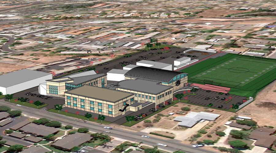 Tri-City Christian Schools High School and Football Field