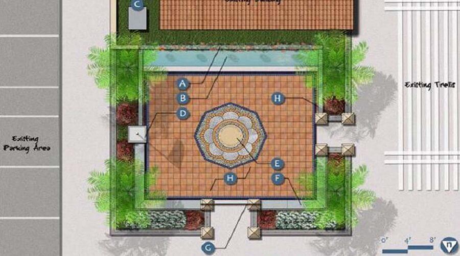 La Colonia Veteran's Honor Courtyard